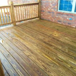 Deck Cleaned and Stained