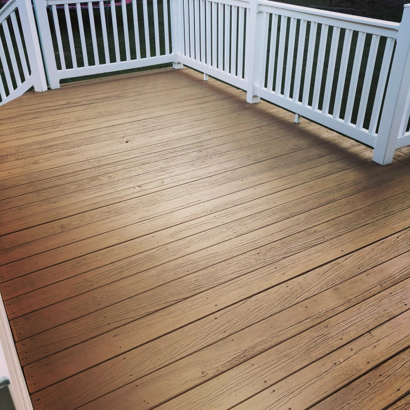 Deck Stained/Sealed